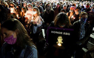 Public Invited: RBG Candlelight Vigil at Alexandria's Market Square