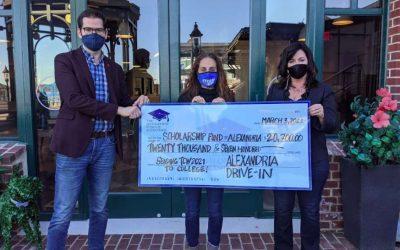 Alexandria Drive-In Donates $20K to Scholarship Fund
